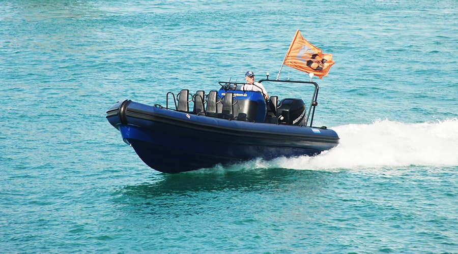 rigid inflatable boat patrol rescue