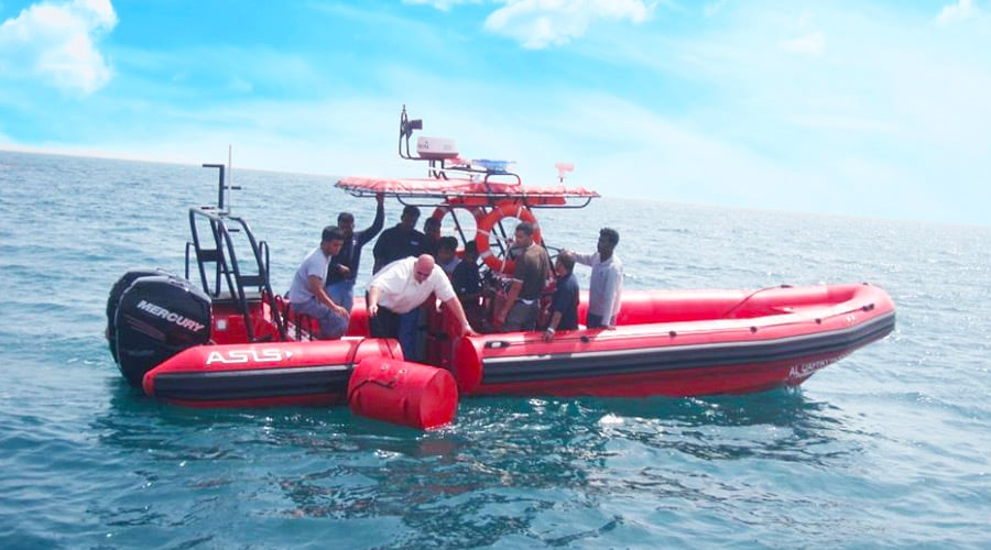 search and rescue rib boat